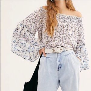 Free People Rose Valley Printed Blouse